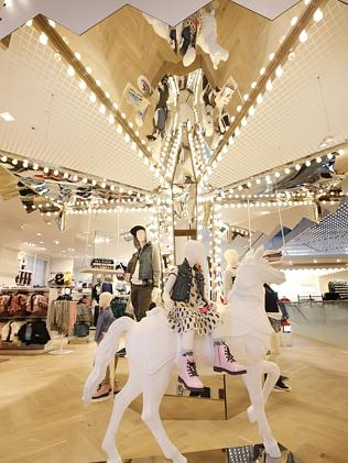 The Carousel inside H&M Melbourne. Picture- David Caird Source- News Limited